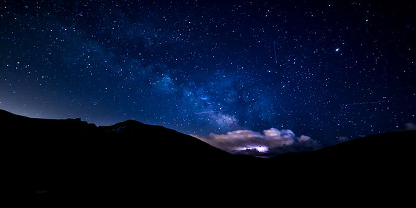 Stars and Storms over Mount Bierstadt