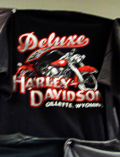 Gillette, Wyoming Deluxe Harley Davidson T-shirt