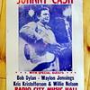 Johnny Cash, Radio City Music Hall Poster