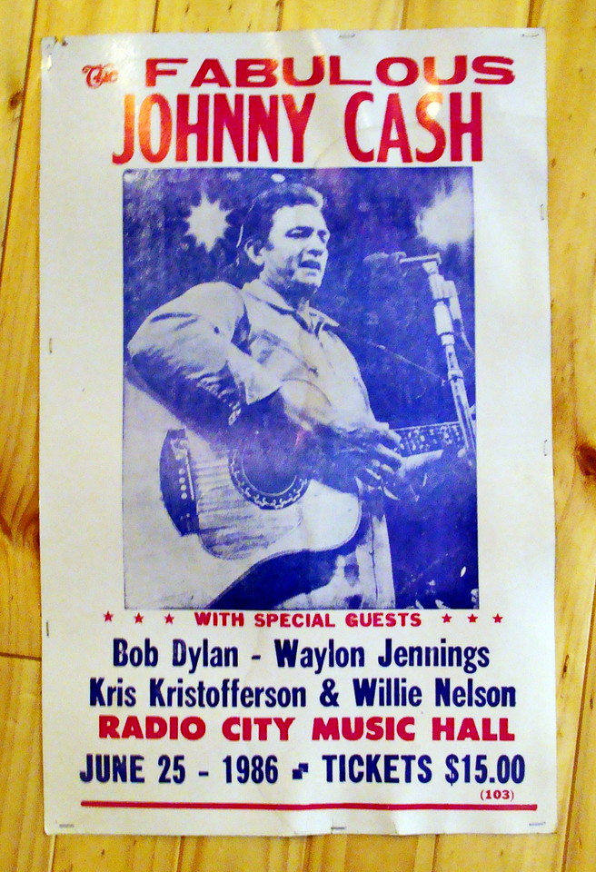 Johnny Cash, Radio City Music Hall Poster
