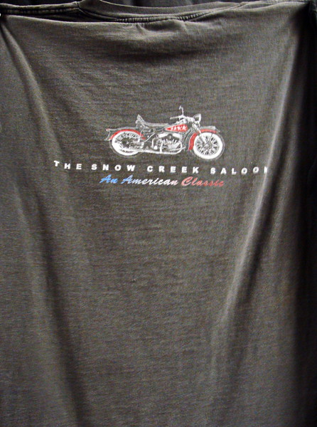 Snow Creek Saloon Harley Davidson T-shirt