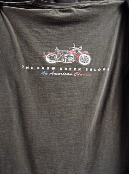 Snow Creek Saloon Harley Davidson T-shirt