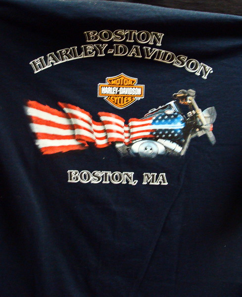 Boston, Massachusetts Harley Davidson T-shirt