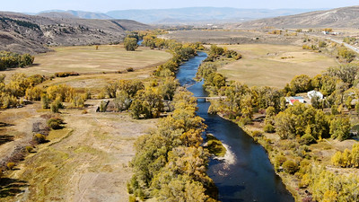 Aerial view of the Colorado River, near Parshall, Colorado in September 2020. Photo by Mitch Tobin, The Water Desk.