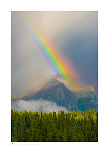 Rainbow over mountains from Molas Park- near Silverton, CO