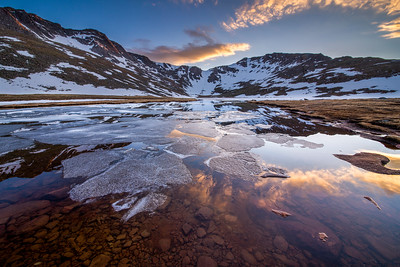 Summit Lake Sunset on Mount Evans