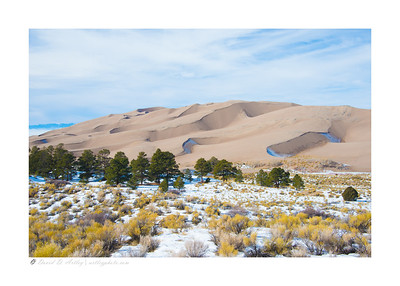 Sand Dunes in Winter, Great Sand Dunes National Park, CO