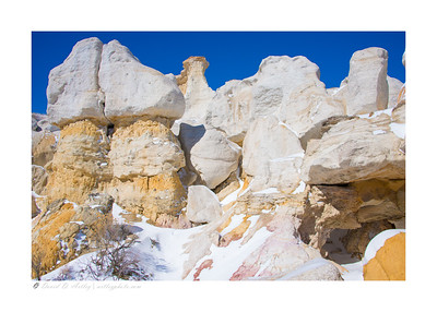 Winter snow, Paint Mines Interpretive Park,  Calhan,  CO