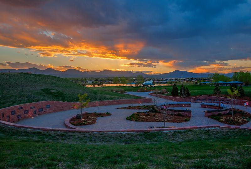 Columbine Memorial, looking west