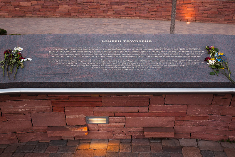 Memorial plaque for Lauren Townsend, Columbine Memorial