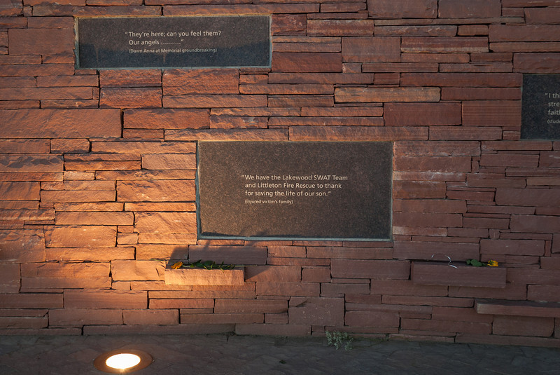 Plaques on Wall of Healing, Columbine Memorial