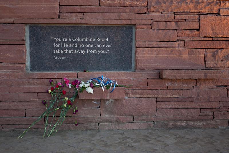 Plaque on Wall of Healing, Columbine Memorial
