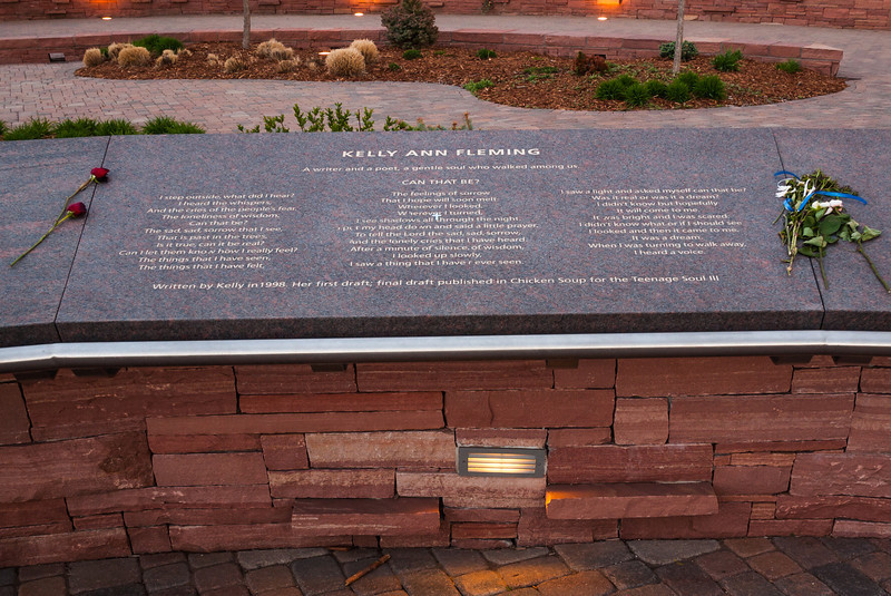 Memorial plaque for Kelly Ann Fleming, Columbine Memorial