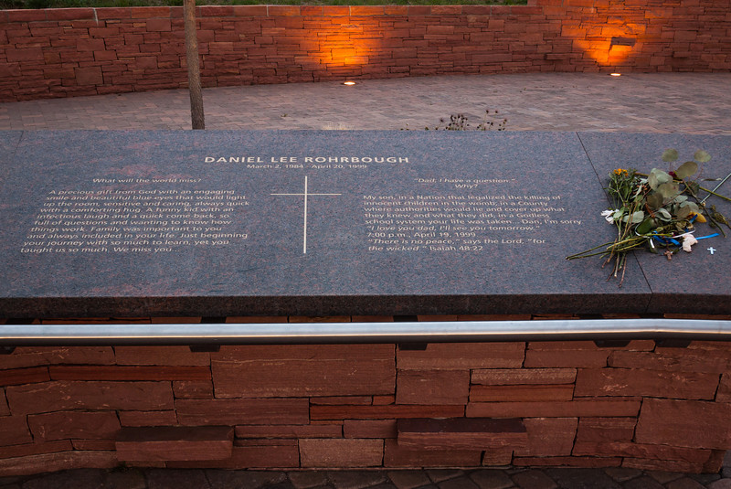 Memorial plaque for Daniel Lee Rohrbough, Columbine Memorial