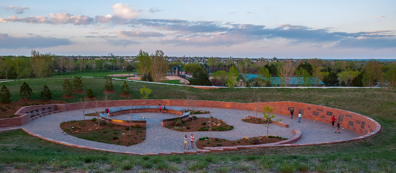 Columbine Memorial, looking northeast from Rebel Hill