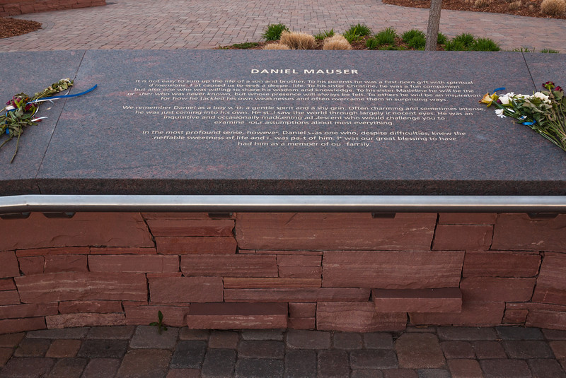 Memorial plaque for Daniel Mauser, Columbine Memorial