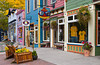 Main street Victorian architecture in stores and shops in Crested Butte, Colorado, USA, America.