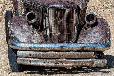usa, colorado, cripple creek, transportation , truck,  rust, oil paint