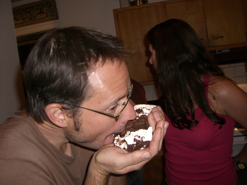 Cake taste so much better when you eat it with your hands.