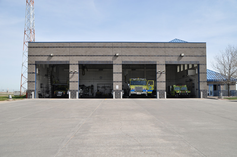 ARFF Station 2 North Central Field, Structure Only<br /> Home to:<br /> Engine 32<br /> Patrol/Mini 32<br /> Air Stair 22<br /> Red Chief<br /> Reserve Engine