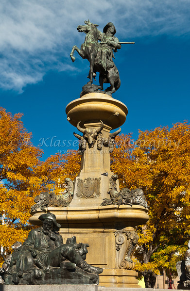 The Pioneer monument in downtown Denver, Colorado, USA.