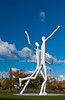 Outdoor sculptures at the performing Arts Center in Denver, Colorado, USA, America.
