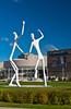 Outdoor sculptures at the performing Arts Center in Denver, Colorado, USA, America.