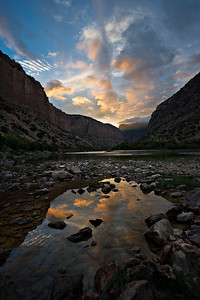 Green River Sunrise - view upstream to Harper's Corner