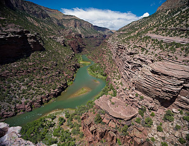 Lodore Canyon - Limestone Camp Overlook 3 vertical image stitch
