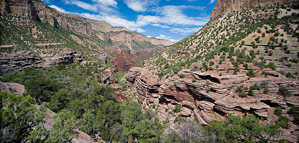 Lodore Canyon - Limestone Camp Overlook trail 3 image stitch