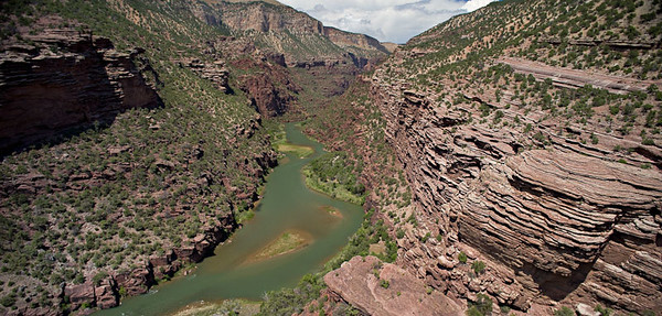 Lodore Canyon - Limestone Camp Overlook 3 image stitch