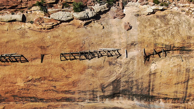 The hanging flume above the Dolores River in southwest Colorado on September 27, 2020. Photo by Mitch Tobin, The Water Desk