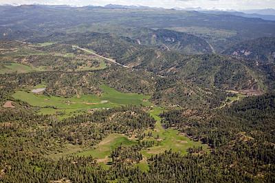Aerial view of Pictured Cliffs outcrop HD (Pargin) Mtns, Northern San Juan Basin margin
