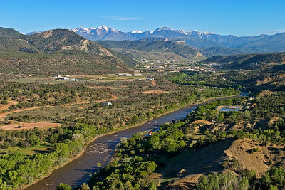 Animas River, View north to Durango and La Plata Mtns.