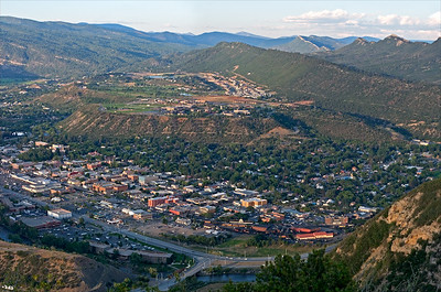 Durango & Animas Valley view North from Smelter Mtn