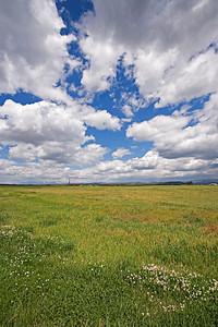 Ranchland & rig Knight E#2 - Fruitland coalbed methane well site, /san Juan Basin