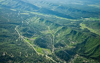 Aerial view of Pictured Cliffs outcrop Northwestern San Juan Basin margin