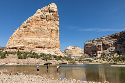 Steamboat Rock and the Green River in Echo Park and Dinosaur National Monument in northwest Colorado on September 26, 2020. Photo by Mitch Tobin, The Water Desk.