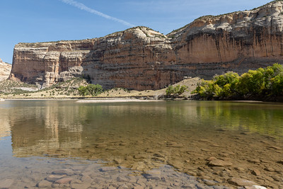 The Green River in Echo Park and Dinosaur National Monument in northwest Colorado on September 26, 2020. Photo by Mitch Tobin, The Water Desk.