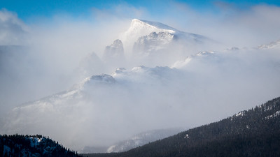 Wind storm in the Rocky Mountains.