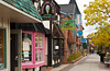 Estes Park townsite, shops, street scenes with fall foliage, Colorado, USA, America.