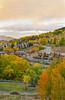 Fall foliage color in Snowmass Village, Colorado, USA, America.