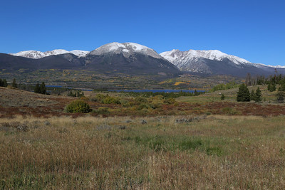 Looking across the Dillon Reservoir at Frisco