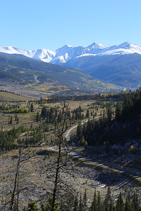 Keystone, with Grizzly Peak, Torrey's Peak, and Gray's Peak above Arapahoe Basin in the background, from Sapphire Point