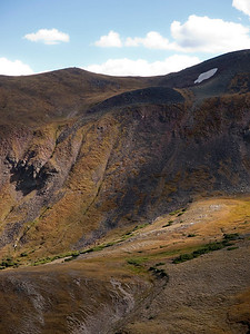 View from the Trail Ridge Road visitor's center.  Can you spot the elk?