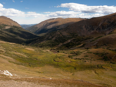 View from the top of Fall River Road.  12000 feet.