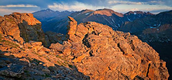The Rock Cut, Trail Ridge Road PreCambrian metamorphic 3 image stitch