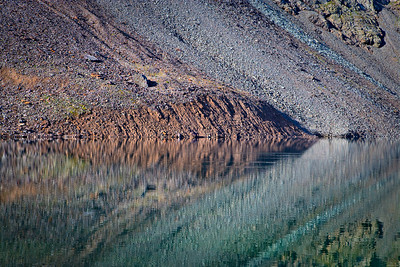 Talus reflections, Clear Lake