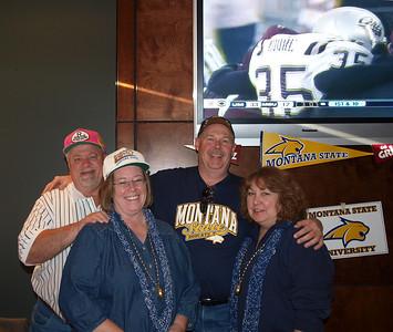Terry, Randi, Dean & Robin. Brooklyn's restaurant at the Pepsi Center in Denver. MSU Bobcats vs. Montana Grizzlies. November 21st, 2009.