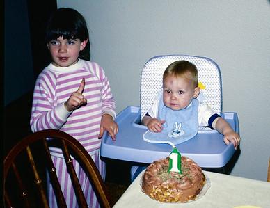 Jennifer and Jeff.  Jeff's 1st birthday!